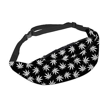 3d Printed Waist Bags Green Leaves & Fanny Pack With Zipper Travelling Yb7