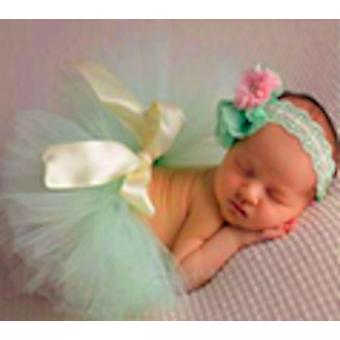 Baby Dress Set With Headband