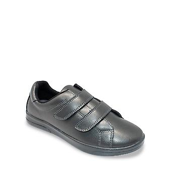 Chums Ladies Washable Leather Touch Fasten Shoe - Gina
