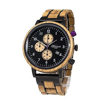 Men's Watch Waid Time Chronograph Gin BlackBerry - GT01W