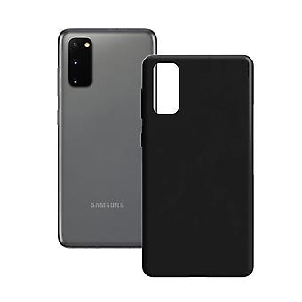 Mobiilikansi Samsung Galaxy S20 Contact Silk TPU Musta