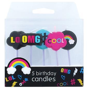velas #LOL - 5 piezas