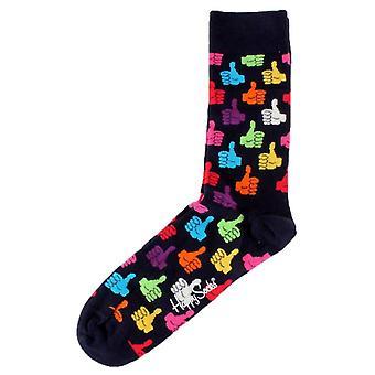 Happy Socks Thumbs Up Socks - Navy/Orange/Green