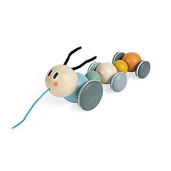 Janod sweet cocoon pull-along caterpillar