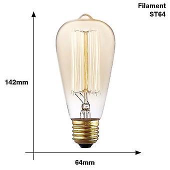 Dimmable Vintage Edison Light Bulb, Incandescent Edison Lamp