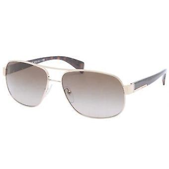 Prada SPR52P ZVN/1X1 blek gull/brun gradient solbriller
