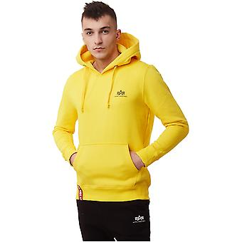 Alpha Industries Basic Hoody Small Logo 196318465 sweat-shirts pour hommes universels