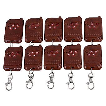 10 Set Peach Wood Appearance 433Mhz Four Button RF Wireless Gate Remote Control