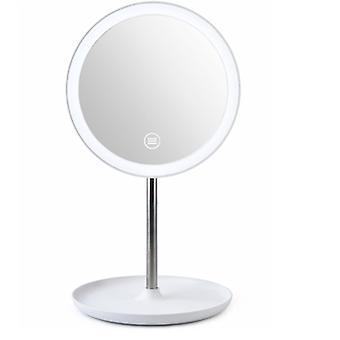 LED-Waschtisch Spiegel Nachttisch mit Lampe Waschtisch Spiegel Badezimmer Desktop Multifunktions-Waschtisch Spiegel Touch leuchtend