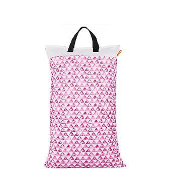 Wasserdicht und wiederverwendbare nass/trockene Tasche für Tuch Windel mit zwei Reißverschluss