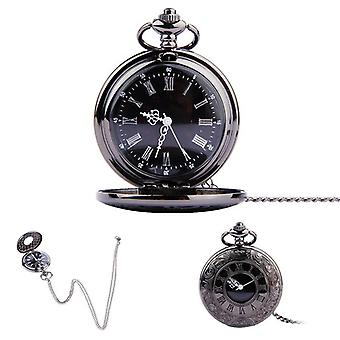 Fob Pocket Watch Vintage Roman Numerals Quartz Watch