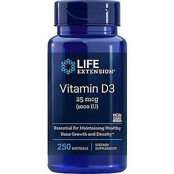 تمديد الحياة فيتامين D3 1000iu سوفتجيلس 250
