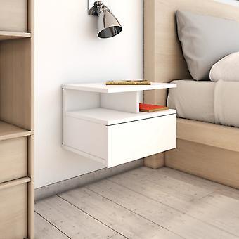 vidaXL pendre table de nuit blanc 40 x 31 x 27 cm Panneau de particules