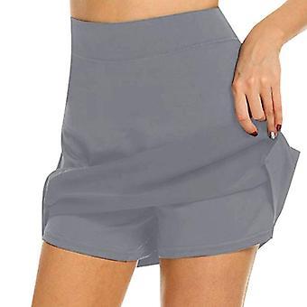 Women's Sports Shorts Tennis Skirt, Shorts Skirt Anti-emptied 2 In 1