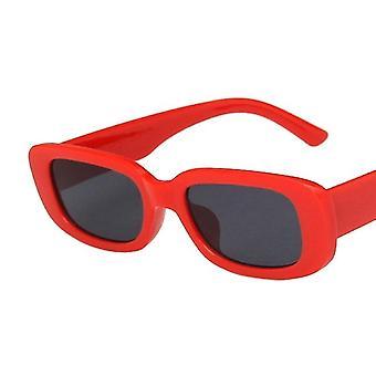 Femmes vintage petites lunettes de soleil rectangle carrés lunettes de soleil nuances