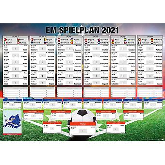 EM Schedule 2021 Football XXL European Championship german All groups, all games in XXL format! Giant poster 100 x 140 cm