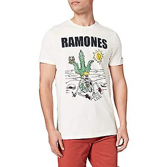 Springfield Camiseta Ramones T-Shirt, Snow White, L Man