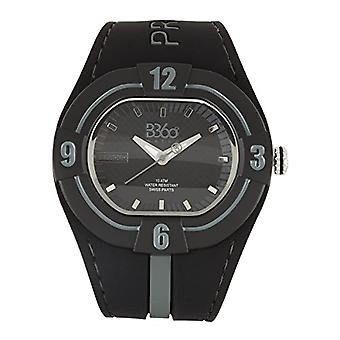 B360 WATCH Unisex Large wristwatch, 10 bars silicone quartz B PROUD NEW BLACK GRAY L