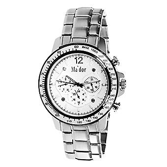 Mador - MAM-558 - Men's Quartz Watch with Day and Date display - Sporty, classic and elegant - Ref white dial. 4250686847901