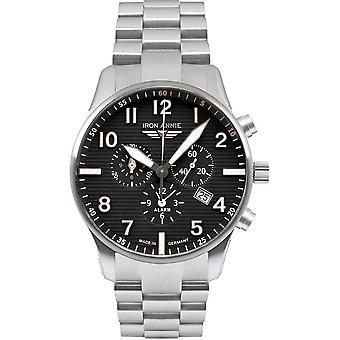 Iron Annie 5684M-2 Black Dial Chronograph Steel Bracelet Wristwatch
