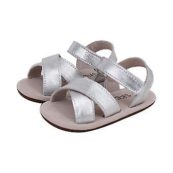 SKEANIE vauva & taapero nahka risti sandaalit hopea
