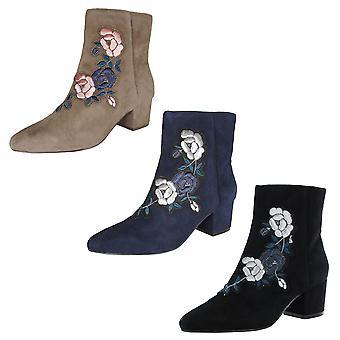 Steven Women Brooker Floral Ankle Boot Shoes