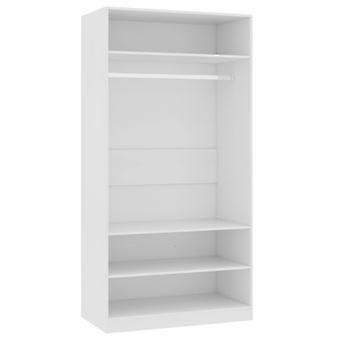 vidaXL Vaatekaappi Valkoinen 100×50×200 cm Lastulevy