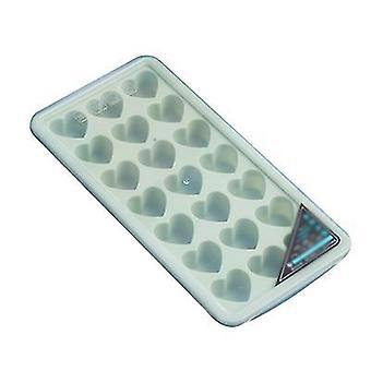Green heart shaped silicone ice cube tray x4664