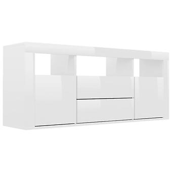 vidaXL TV-kaappi korkeakiiltoinen valkoinen 120 x 30 x 50 cm lastulevy