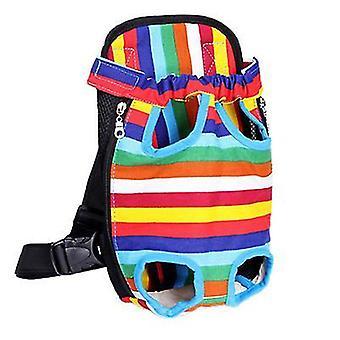 Xl 41 * 25cm bara de culoare în aer liber sac portabil pentru animale de companie, rucsac plasă respirabil pentru pisici și câini az7764