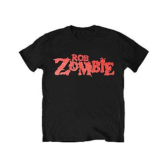 Rob Zombie Kids T Shirt Classic red Logo new Official Black Ages 5-14 yrs