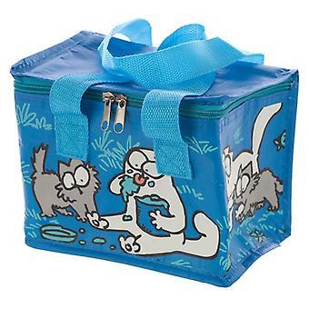 Scatola da pranzo borsa fresca intrecciata - Gatto e gattino Blue Simons
