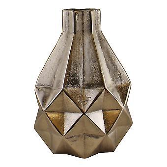 Srebrny metal geometryczny projekt Wazon