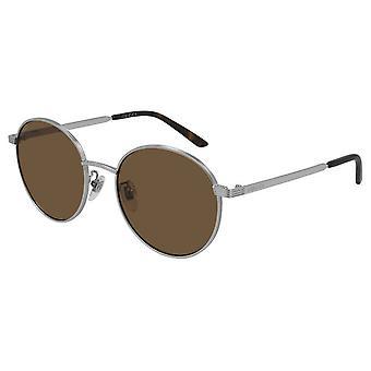 Gucci Zilveren Ronde Unisex Zonnebril