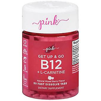 Nature's Truth Nature's Truth Pink Get Up & Go B12 + L-Carnitine Fast Dissolve Tabs, 50 Tabs