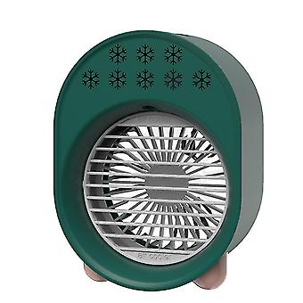 USB portable air cooler, rechargeable electric mini desktop Air conditioner(Green)
