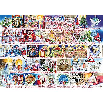 Gibsons Christmas Alphabet Jigsaw Puzzle (1000 pièces)