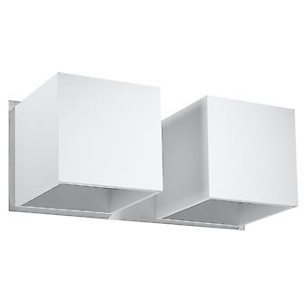 Sollux QUAD SL.0656 Twin Square Upp & Down Wall Lamp Vit G9