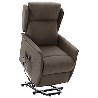 vidaXL reclining chair with riser brown fabric