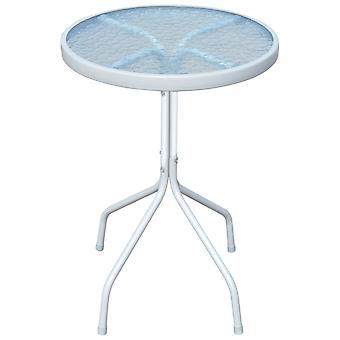 vidaXL Garden Table 50 x 71 cm Steel Round Grey