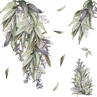Leaves Plant Wall Sticker Home Decals (size:103cm X 103cm)