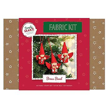 Fabric Sewing Kit in a Box - Christmas Brass Band - Craft Kit