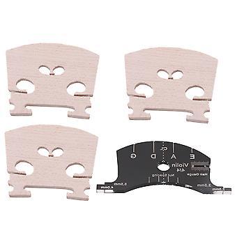 4PCS Violin Fiddle Bridge et Nut Spacing Hair Guage Tool pour violon 4/4
