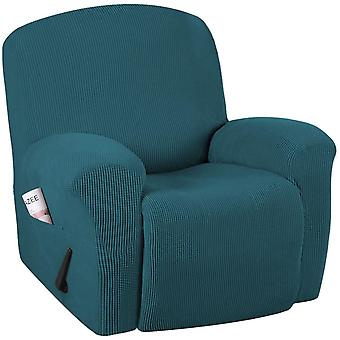 Recliner sofa covers stretch reclining couch covers for 1/2/3 cushion couch furniture protector feature with elastic bottom, dark teal
