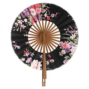 New Folding Hand Fan Round Hand Fan Party Decoration Gift