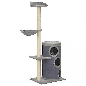Chunhelife Cat Tree With Sisal Scratching Posts Grey 148 Cm