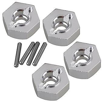 Remote control toy accessories 4pcs 12mm aluminum wheel hex for axial 90026 rc 1:10 rock crawler ax31015 silver