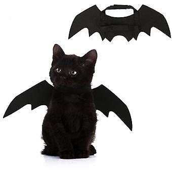 Halloween Pet Dog Cat Bat Wing Cosplay Costume Fancy Dress Up Pet Dog Clothing Outfit Wings Halloween Party Supplies Photo Props