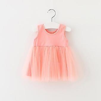 Baby Sleeveless 1st Birthday Party Dress For Cute Clothing