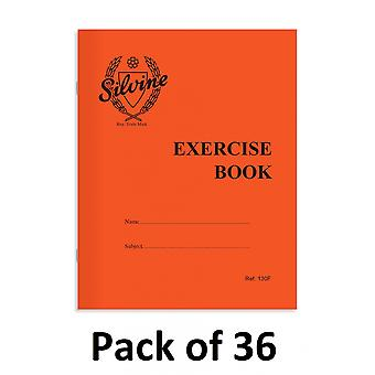 Silvine Exercise Notebook (Pack of 36)